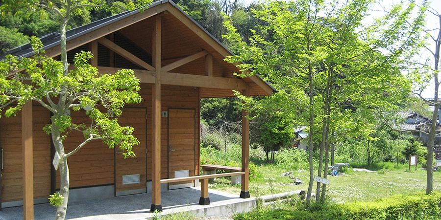 静岡県蒲原町 中尾羽根川親水公園のバイオマス・トイレ